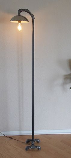 Industrial Minimalist Floor Lamp by Splinterwerx on Etsy