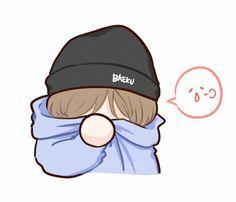 BBH🌌 Baekhyun Fanart, Chanbaek Fanart, Kpop Fanart, Exo Cartoon, Cute Cartoon, Kpop Drawings, Cute Drawings, Bts Chibi, Anime Chibi