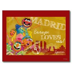 The #Muppets - Madrid, Spain Poster Postcards