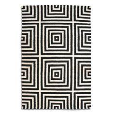 Debenhams Black wool 'Frankie' rug- at Debenhams.com