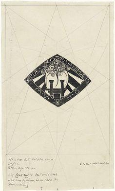 Richard Roland Holst | Ontwerp voor een vignet Piae Uxoris Animae, Richard Roland Holst, 1878 - 1938 |