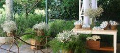 Manuel Fleury oferece lindos arranjos florais para decoração de casamento no campo