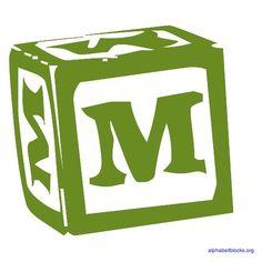 Building Block - Letter M