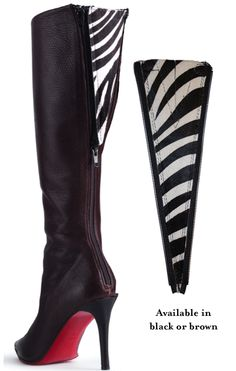 This would be fabulous for plus-size girls that love regular boots, but can't fit into them because of calf width.