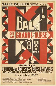 Bal de la Grande Ourse organisé par l'Union des artistes russes à Paris - bal costumé - 1925 - illustration de Auguste Herbin -