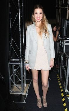 Whitney Port wearing Sergio Rossi Caged Ankle Booties.