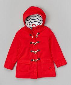 Look at this #zulilyfind! Dark Red Toggle Swing Coat - Infant, Toddler & Girls by Nautica #zulilyfinds