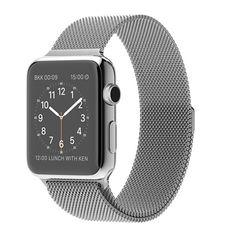 Apple Watch - Caja de acero inoxidable de 42 mm con correa de malla milanesa - Apple (MX)