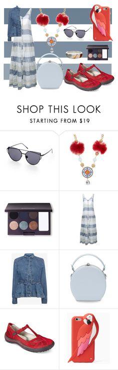 """Untitled #7053"" by pampire ❤ liked on Polyvore featuring Dolce&Gabbana, Laura Mercier, Lisa Marie Fernandez, Alexander McQueen, Handle, Jambu, Kate Spade and Pamela Love"