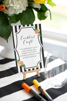 Project Nursery - Design Your Own Mocktail Glass Baby Shower Activity - Project Nursery