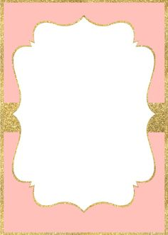 Pink And Gold Invitations Free Princess Birthday, Princess Party, Girl Birthday, Pink And Gold Invitations, 13th Birthday Invitations, Baby Frame, Invitation Background, Minnie Mouse Pink, Unicorn Party