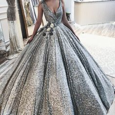 Sparkly African Evening Dresses 2018 New Dubai Turkish Arabic V Neck Pageant Dress Glitter Formal Prom Gowns Robe de soiree(China) Sparkly Prom Dresses, Beautiful Prom Dresses, Elegant Dresses, Pretty Dresses, Formal Dresses, Vestidos Color Blanco, African Evening Dresses, Luulla Dresses, Dress Prom