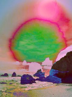 Matador Beach photographed by Cecilia Alejandra. home sweet malibu! Collage Kunst, Collage Art, Double Exposition, Design Digital, Psy Art, Quelques Photos, Glitch Art, Psychedelic Art, Oeuvre D'art