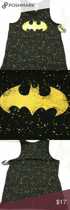 8440683f258527 Batman Mens L Muscle Tee Tank Top Retro Paint Look NEW With Tags Batman  Men s Size