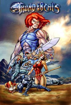 hollywood movie studios buy out thunder cats to! movie after that thundercats! i love it trilogies! The Thundercats by ~benyhibridos Old School Cartoons, 80 Cartoons, Cartoon Posters, Cartoon Art, Cartoon Characters, Thundercats Cartoon, He Man Thundercats, Gi Joe, Classic Cartoons