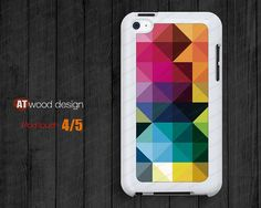 ipod touch 5 case geometry color patch  ipod 4 case  by Atwoodting, $7.99