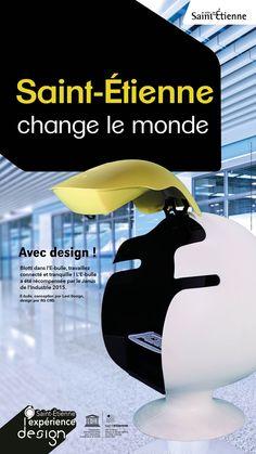 L'E-bulle dessinée et industrialisée par AG CAD. Conçue par Leet Design.