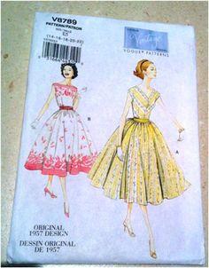Vintage Day Dress Pattern Reprint