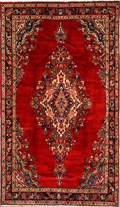 Buy Hamadan Persian Rug x Authentic Hamadan Handmade Rug Carpet Runner, Persian Rug, Handmade Rugs, Decoration, Bohemian Rug, Oriental, Old Things, Carpets, Houses