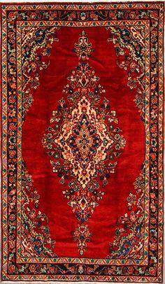 Buy Hamadan Persian Rug x Authentic Hamadan Handmade Rug Carpet Runner, Persian Rug, Handmade Rugs, Decoration, Bohemian Rug, Oriental, Old Things, Carpets, Houses