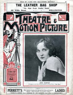 New Zealand Theatre & Motion Picture Magazine - May 1922 - Hope Hampton - silent film