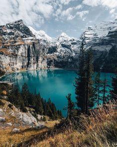 Oeschinen Lake, Switzerland // Silvan Widmer #switzerland