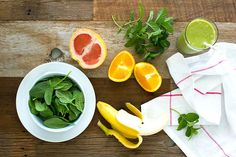 Sweet Citrus & Mint Green Smoothie