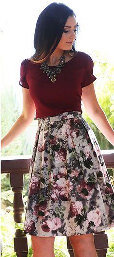 9557c9b4c2 Burgundy Chiffon Top MW10900 - Christies Boutique Fall Skirt Outfits
