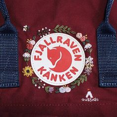 Zeal without knowledge is fire without light - Sticken ideen - Easy Recipes Cute Embroidery, Hand Embroidery Stitches, Embroidery Patterns, Mochila Kanken, Diy Backpack, Kanken Backpack, Diy Broderie, Diy Outfits, Diy Clothes