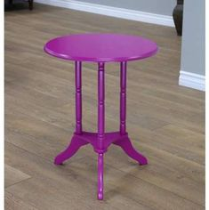 Home Craft Classica Pedestal End Table, Multiple Colors, Purple Accent Colors, Accent Pieces, Pedestal, End Tables, Home Crafts, Home Furnishings, Stool, Make It Yourself, Walmart