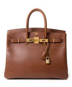 koop veilig online tweedehands designer vintage hermes noisette birkin vintage like new, best price