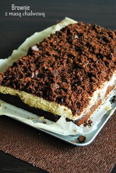 Brownie z masą chałwową Tiramisu, Cook, Ethnic Recipes, Cooking, Tiramisu Cake, Koken