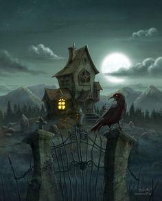 Illustration for The Raven by David Garcia #EdgarAllanPoe