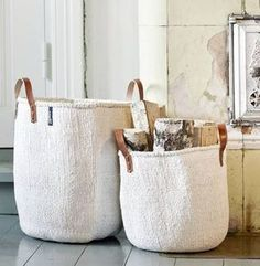 Kiondo Handwoven Basket - The perfect living room accessory as winter draws in. Craft is at the heart of the artisan trend, as it brings together rustic materials such as wood, rope and clay.