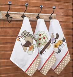 Cod. 4543 - Kit Pano de Copa Fazenda - Cor 1 Christmas Towels, Christmas Stockings, Dish Towels, Tea Towels, Quilting Projects, Sewing Projects, Home Tex, Diy Kitchen Storage, Mini Quilts