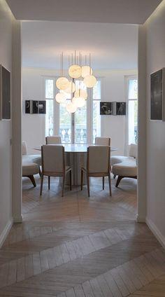 Harmony10 — alabaster chandelier by Atelier Alain Ellouz