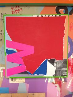 """collage on panel 16"""" x 16""""  """"Wot?"""""""