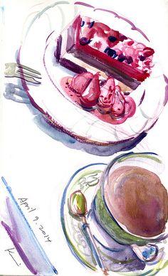 Recent food sketches, Urban Sketchers