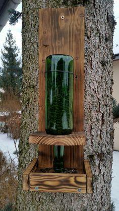 bottle bird feeder ( hand made)