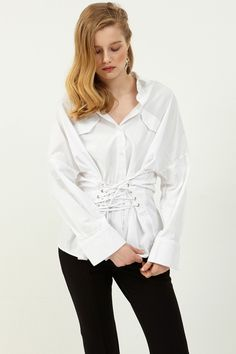 Iza Corset Shirt Discover the latest fashion trends online at storets.com