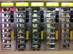 How you get a quick lunch at a vending machine in a Dutch mall.