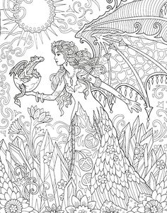 Fairy Coloring Pages, Free Adult Coloring Pages, Coloring Book Art, Happy Holi Images, Best Iphone Wallpapers, Beautiful Fairies, Colorful Pictures, Bunt, Mythical Creatures