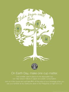 starbucks philippines earth day poster