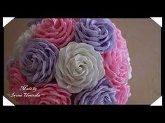 Цветы из гофрированной бумаги - YouTube