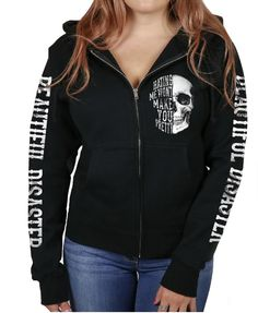 403933689458f Hating Me Won't Make You Pretty! Our Curvy+ zip-hooded sweatshirt is. Beautiful  Disaster Clothing