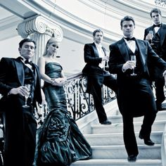 The Original Family. The Mikaelson siblings at the Mikaelson Mansion in Mystic Falls. Pictured: Finn, Rebekah, Klaus, in front line: Elijah, then behind is Kol.