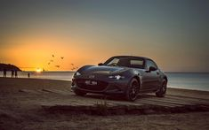 Download wallpapers Mazda MX-5 RF Limited Edition, 4k, 2018 cars, sunset, Mazda MX-5, supercars, new MX-5, Mazda
