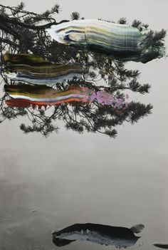 Nanna Hänninen . painted tree series, 2012