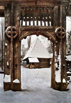 Dimitrie Gusti National Village Museum in Municipiul București, Romania Bulgaria, Wonderful Places, Beautiful Places, Visit Romania, Romania Travel, Carpathian Mountains, Little Paris, Wooden Gates, Eastern Europe