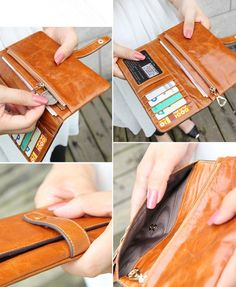 Genuine leather wallet women wallet womens purse door ohyescostume-SR
